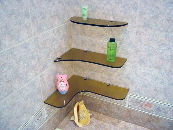 Полка для ванной своими руками под зеркало