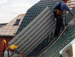 Building materials: range of roofing materials