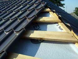 How to cover the roof metal tile