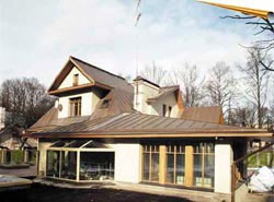 The main quality of a copper roof. Installation of copper roofing