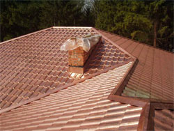 The roof is made of copper - is overdue
